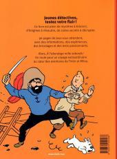 Verso de Tintin - Divers -AJ- Tintin & Milou - Grand livre-jeux