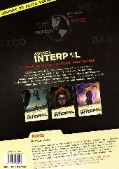 Verso de Agence Interpol -3- Rome - Purple Cats