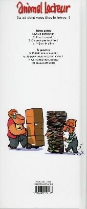 Verso de Animal lecteur -4- Le jour le pilon