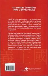 Verso de Tintin - Divers - Les langues étrangères dans l'œuvre d'hergé