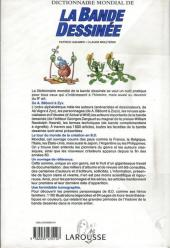 Verso de (DOC) Encyclopédies diverses -11994- Dictionnaire mondial de la Bande Dessinée