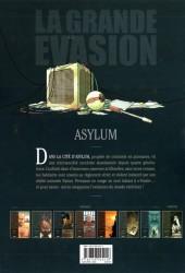 Verso de La grande évasion -7- Asylum