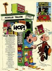 Verso de Achille Talon -18a80- Achille Talon et le coquin de sort