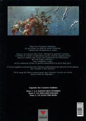 Verso de Légendes des contrées oubliées -3- Le sang des rois