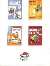 Verso de Achille Talon (Publicitaire) -5pizza hut- L'indispensable Achille Talon