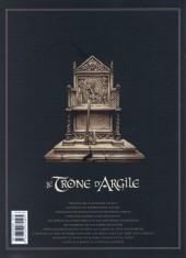 Verso de Le trône d'Argile -INT1- L'intégrale - Tome 1 à 4