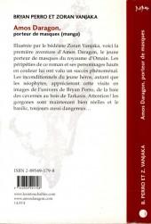 Verso de Amos Daragon -1- Porteur de masques
