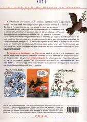Verso de L'almanach du Dessin de Presse et de la Caricature -2010- L'almanach 2010 du Dessin de Presse et de la Caricature