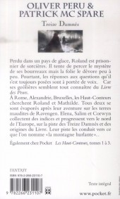 Verso de (AUT) Peru, Olivier -R05 Poch- Les Haut-Conteurs, tome 4 : Treize Damnés
