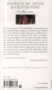 Verso de (AUT) Peru, Olivier -R06 Poch- Les Haut-Conteurs, tome 5 : La Mort noire