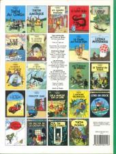 Verso de Tintin (Historique) -11C8- Le secret de la licorne