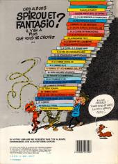Verso de Spirou et Fantasio -9d84- Le repaire de la murène