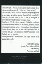 Verso de Tintin - Divers - Tintin et les Filles