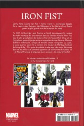 Verso de Marvel Comics : Le meilleur des Super-Héros - La collection (Hachette) -28- Iron Fist