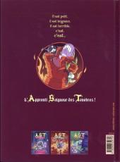 Verso de A.S.T. - L'Apprenti Seigneur des Ténèbres -4- Le feu aux trousses