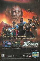 Verso de X-Men (Marvel France 1re série) -106- Chasse damnée !