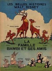 Verso de Les belles histoires Walt Disney (1re Série) -11- La famille Bambi et ses amis
