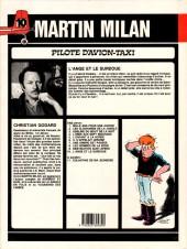 Verso de Martin Milan (2e Série) -10- L'ange et le surdoué