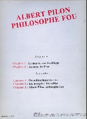 Verso de Albert Pilon philosophe fou -2- Au nom du père