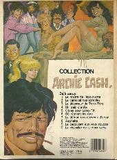 Verso de Archie Cash -1b- Le maître de l'épouvante