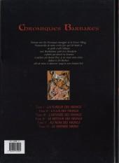 Verso de Chroniques Barbares -6- Le dernier Viking