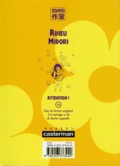 Verso de Adieu Midori - Tome 1