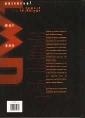 Verso de Universal War One -4- Le déluge