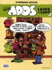 Verso de Les ados -3- Laura et Ludo 3