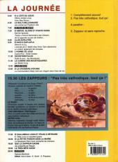 Verso de Les zappeurs -2- Pas très cathodique, tout ça !