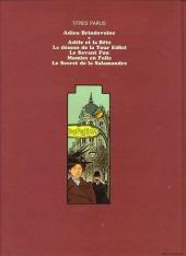Verso de Adèle Blanc-Sec (Les Aventures Extraordinaires d') -5- Le secret de la salamandre