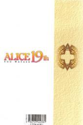 Verso de Alice 19th -1- Tome 1