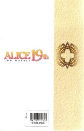 Verso de Alice 19th -5- Tome 5