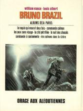 Verso de Bruno Brazil -8- Orage aux Aléoutiennes