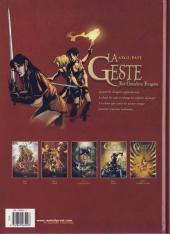 Verso de La geste des Chevaliers Dragons -5- Les Jardins du Palais