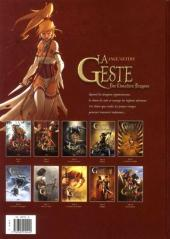 Verso de La geste des Chevaliers Dragons -10- Vers la lumière