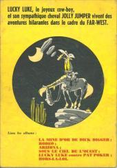 Verso de Lucky Luke -7- L'elixir du docteur Doxey