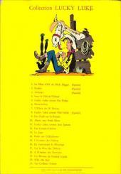Verso de Lucky Luke -22- Les Dalton dans le blizzard