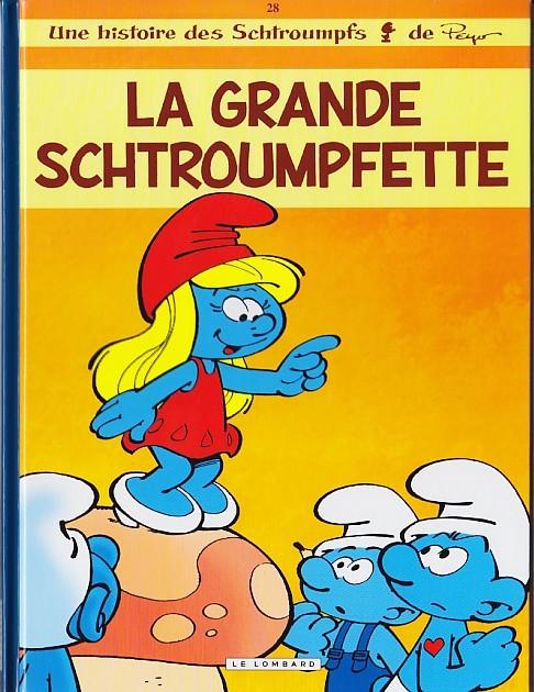 Couverture de Les schtroumpfs -28- La Grande Schtroumpfette