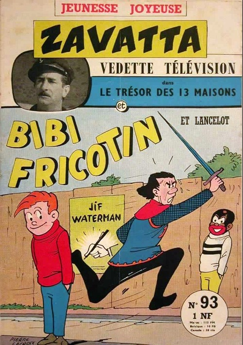 Couverture de Bibi Fricotin (3e Série - Jeunesse Joyeuse) -93- Bibi Fricotin et Lancelot