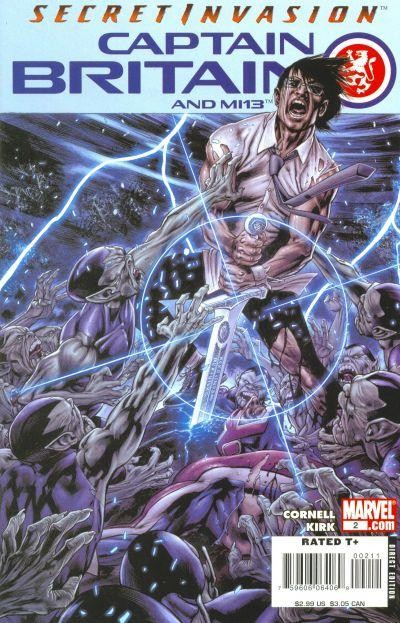 Couverture de Captain Britain and MI13 (2008) -2-  The Guns of Avalon (Part Two)