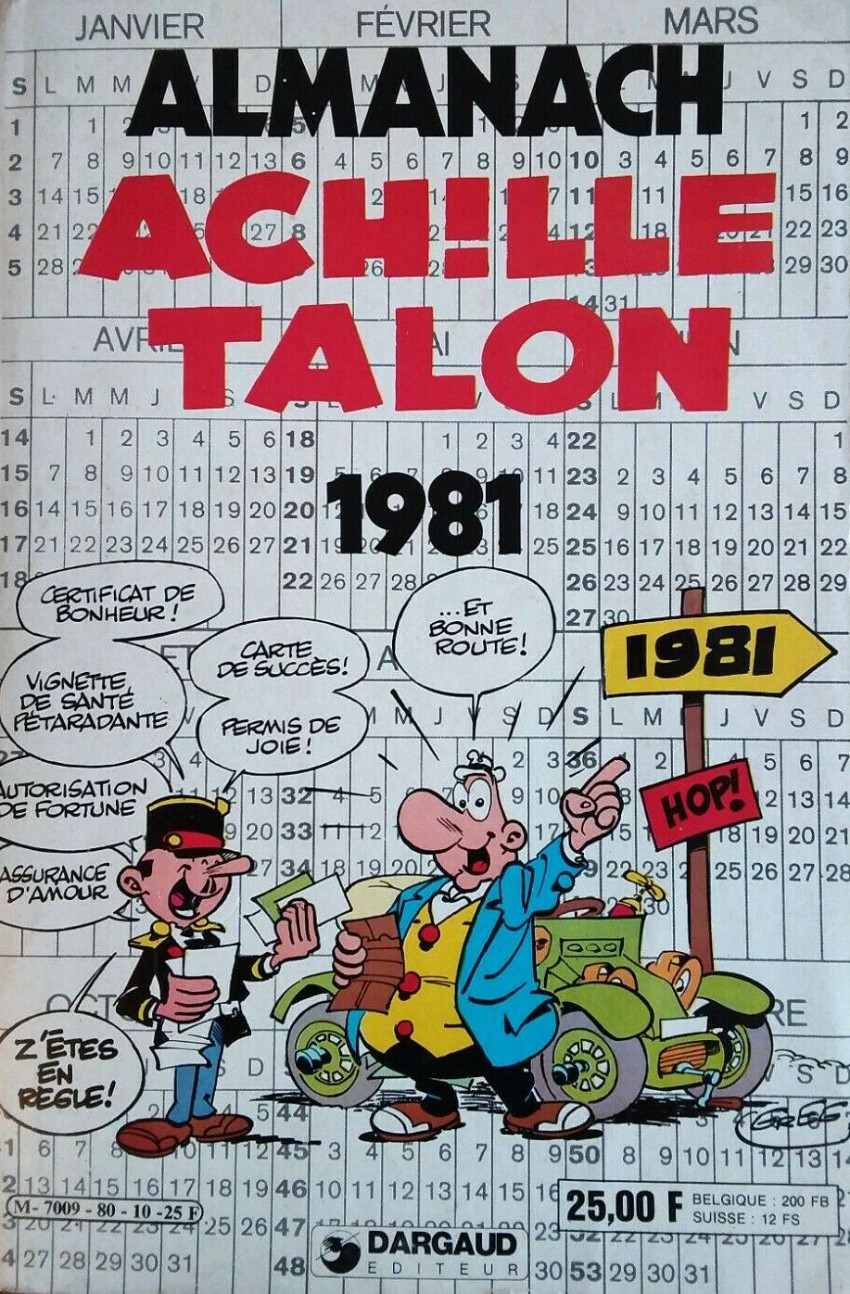 Couverture de Achille Talon -HS1- Almanach 1981