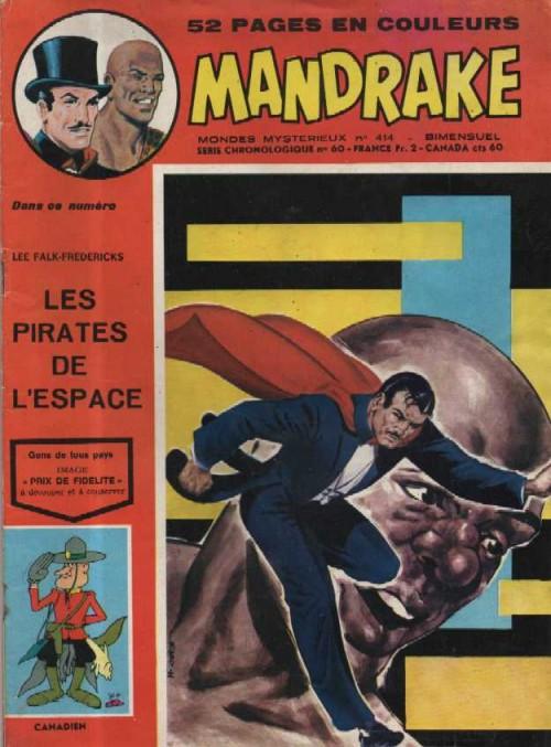 Couverture de Mandrake (1e Série - Remparts) (Mondes Mystérieux - 1) -414- Les pirates de l'espace
