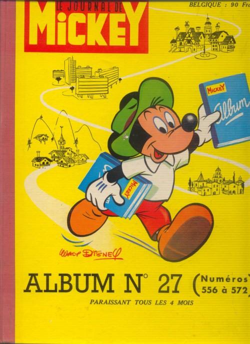 Couverture de (Recueil) Mickey (Le Journal de) -27- Album n°27 (n°556 à 572)