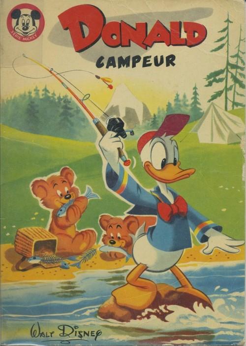 Couverture de Votre série Mickey (2e série) - Albums Filmés ODEJ -11- Donald campeur