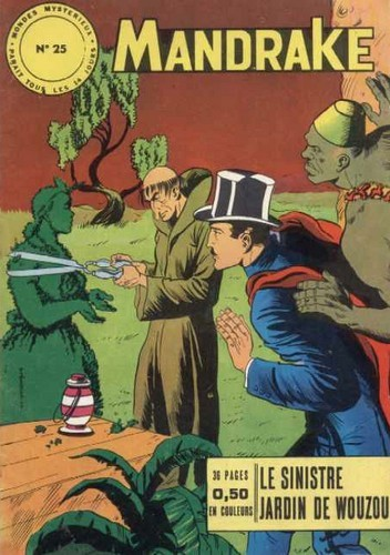 Couverture de Mandrake (1e Série - Remparts) (Mondes Mystérieux - 1) -25- Le sinistre jardin de Wouzou