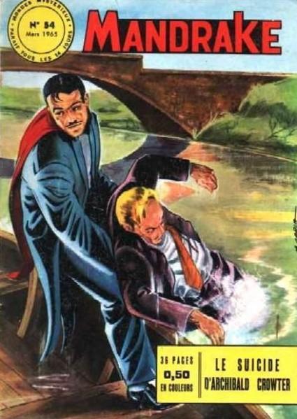 Couverture de Mandrake (1e Série - Remparts) (Mondes Mystérieux - 1) -54- Le suicide d'Archibald Crowter