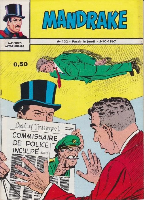 Couverture de Mandrake (1e Série - Remparts) (Mondes Mystérieux - 1) -132- Le procès du commissaire