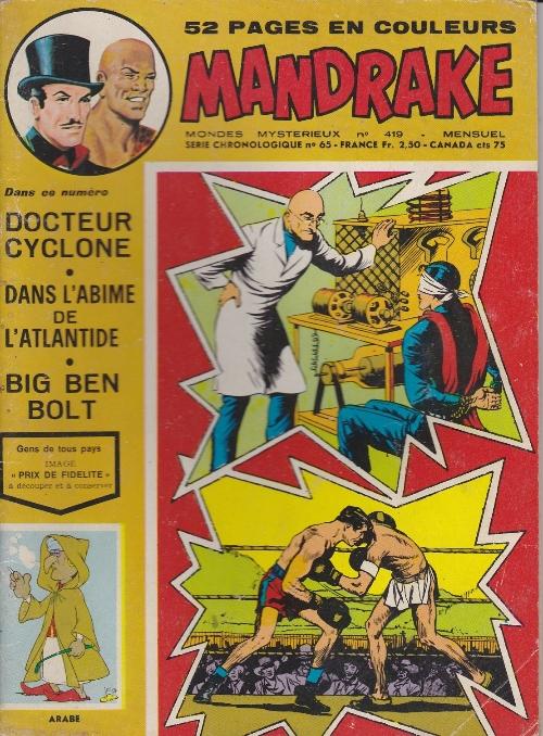 Couverture de Mandrake (1e Série - Remparts) (Mondes Mystérieux - 1) -419- Le docteur Cyclone