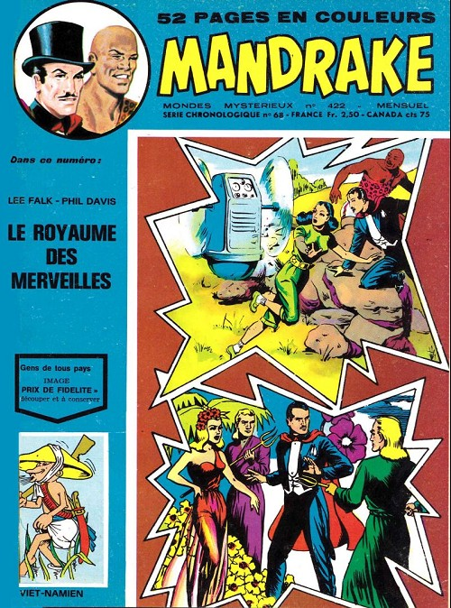 Couverture de Mandrake (1e Série - Remparts) (Mondes Mystérieux - 1) -422- Le royaume des merveilles