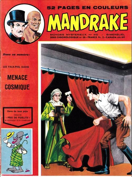 Couverture de Mandrake (1e Série - Remparts) (Mondes Mystérieux - 1) -410- Menace cosmique